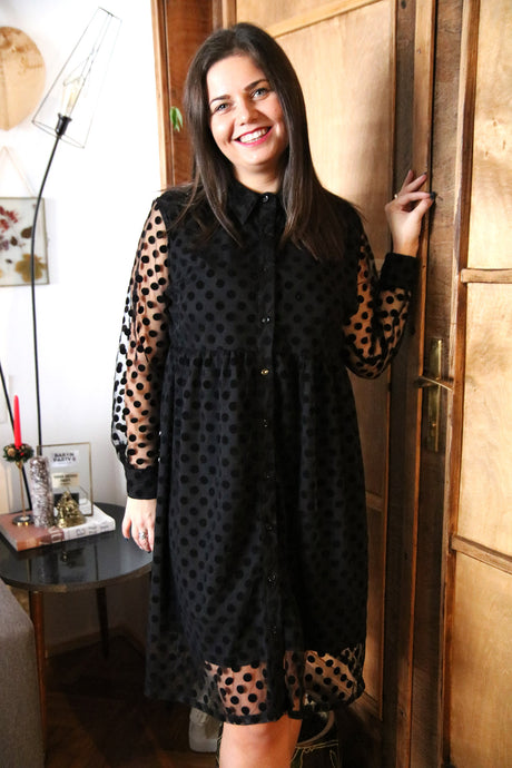 Shirt Dress Klara on Dots