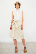Load image into Gallery viewer, Beige Asymmetrical Skirt Anaina