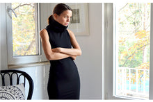 Load image into Gallery viewer, Womens Black Fitted Dress Zaha