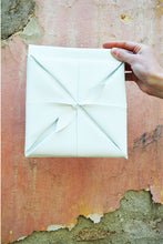 Load image into Gallery viewer, White Clutch Bag Origami