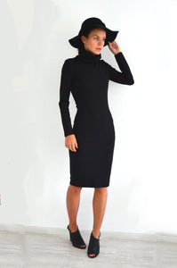 Black Bodycon Dress Uma