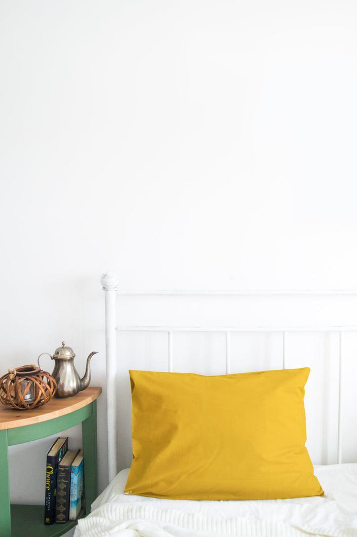 Set of 2 Mustard Yellow Pillow Cases