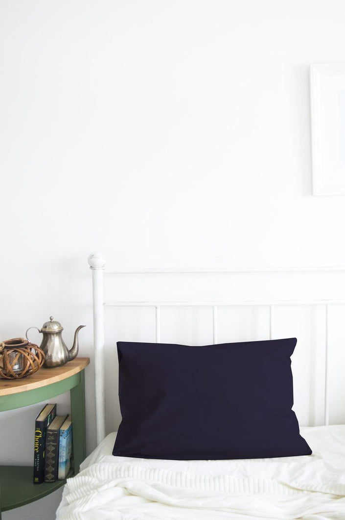 Set of 2 Navy Blue Pillow Cases