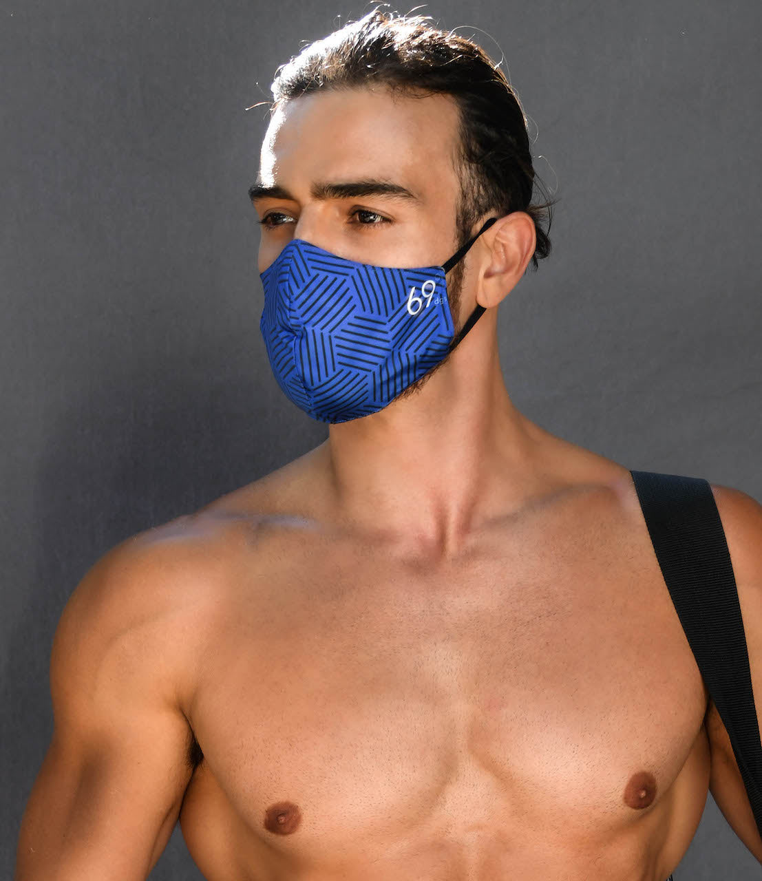 BLUE w/ Stripes Reversible MASK only