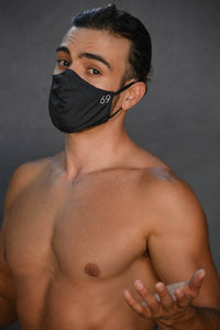 Reversible MASK Solid Black with Hidden pocket inside