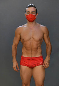 Red Geometrical Reversible MASK only