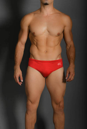 Brief Solid Red