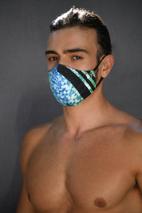 Geometrical Blue reversible MASK only