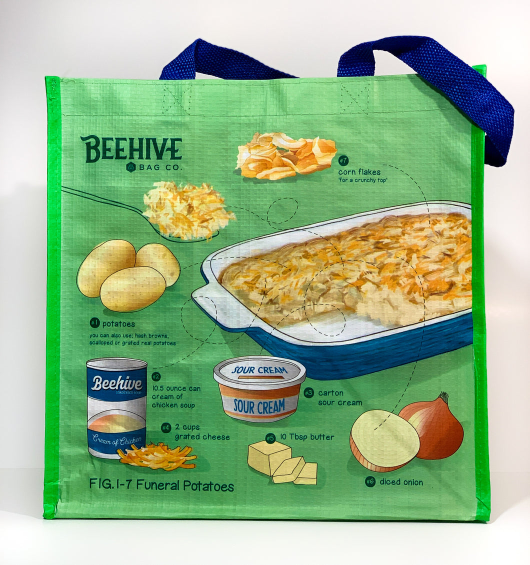 Funeral Potatoes Reusable Grocery Bag