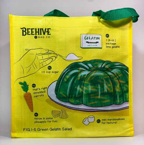Green Gelatin Salad Reusable Grocery Bag