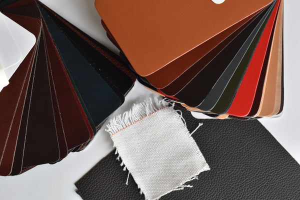 Recycled leather swatches