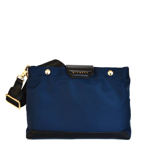 AMIE NYLON CROSSBODY BAG - INK BLUE