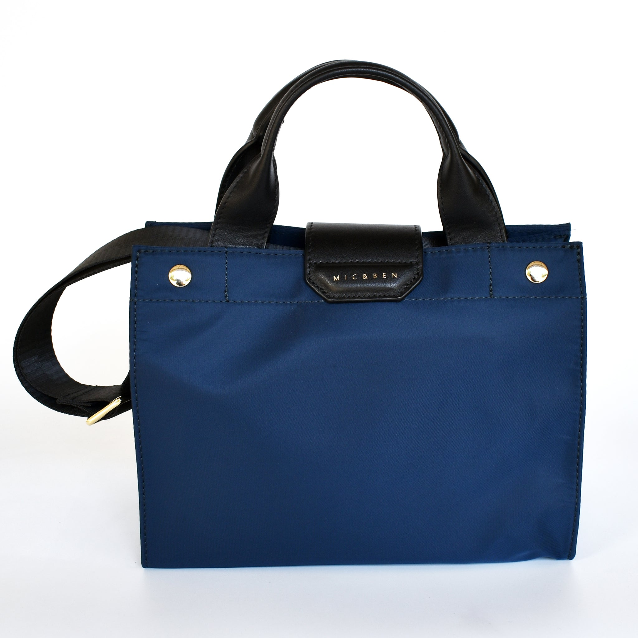 AMIE NYLON TOTE BAG - INK BLUE