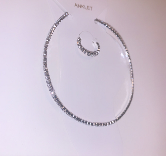 Diamond Anklet w/ Toe Ring