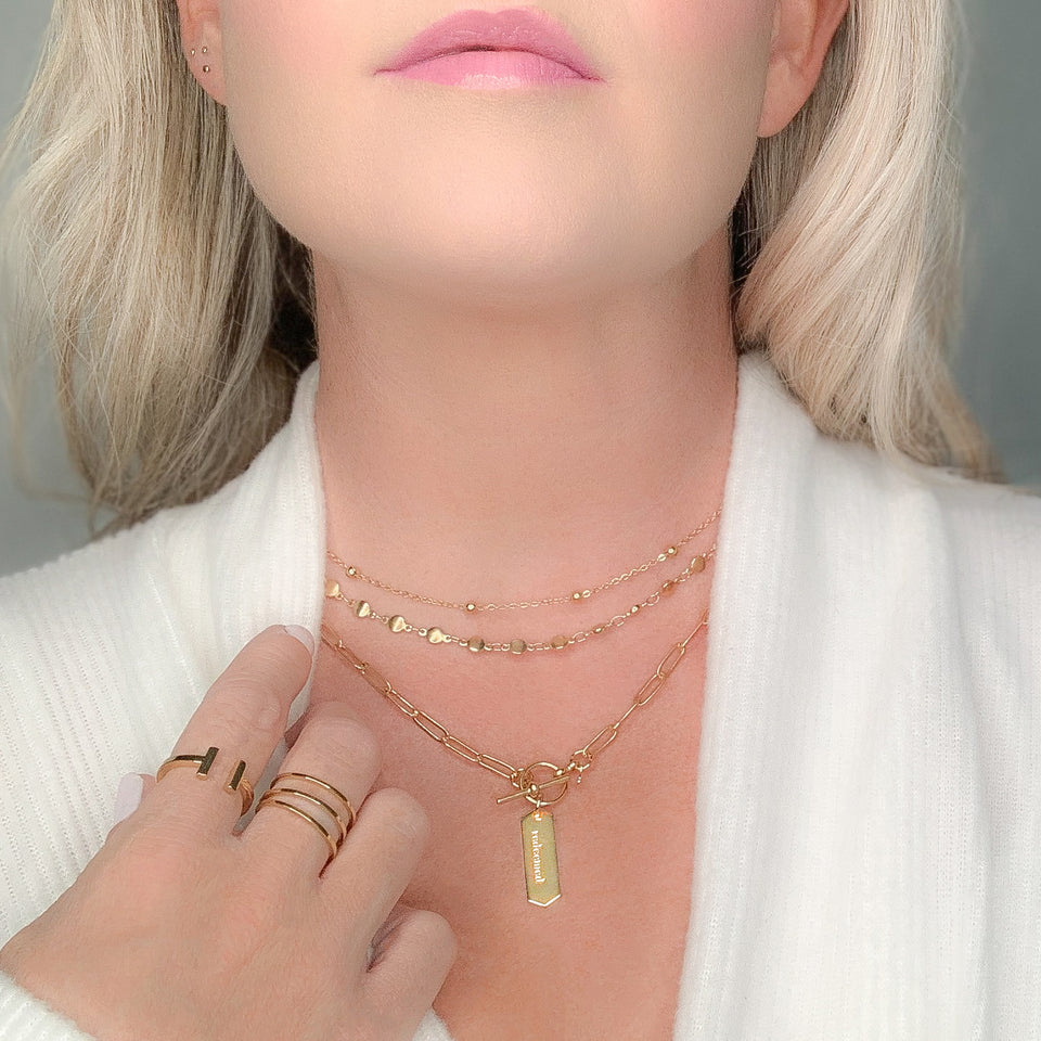 meaningful and modern gold jewelry for Christian women