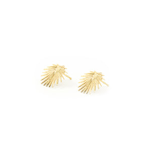 14k gold, faith inspired, palm leaf stud earrings