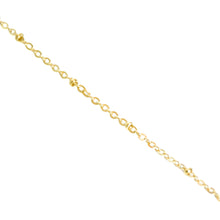 Load image into Gallery viewer, 14k gold, palm leaf longer necklace with satellite chain