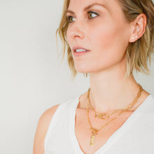 Load image into Gallery viewer, 14k gold-plated protect necklace with over-sized clasp