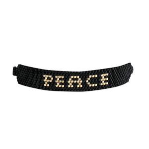 Fruit of the Spirit beaded bracelet with word Peace.