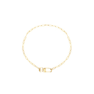 14k gold chain, Christian layering necklace with oversized swivel clasp