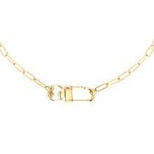 Load image into Gallery viewer, 14k gold chain, faith inspired necklace with oversized swivel clasp perfect for layering