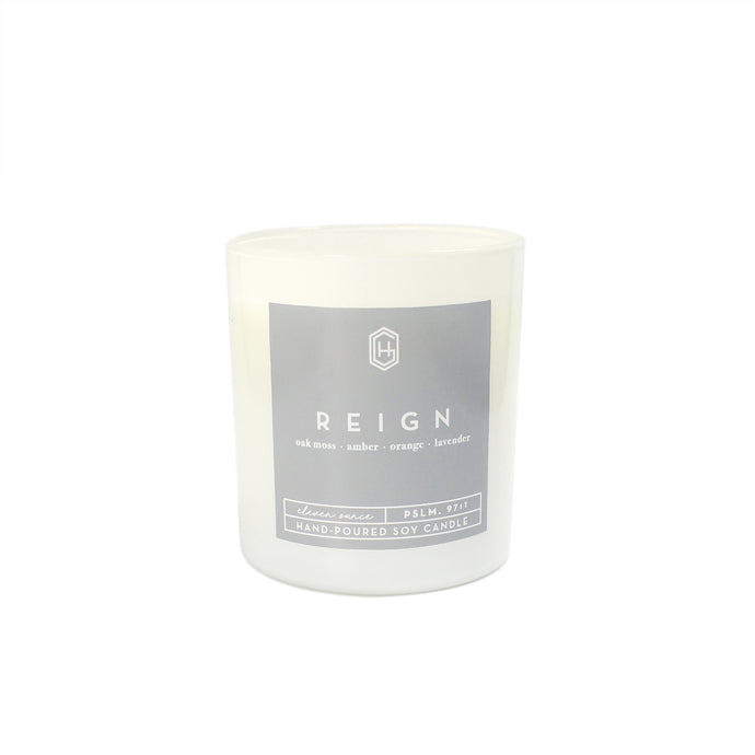 Hand-poured, soy candle, 11 ounce, Reign