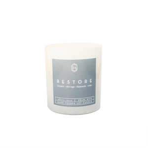 Hand-poured, soy candle, 11 ounce, Restore