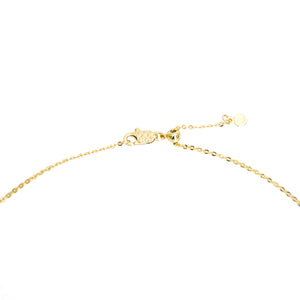14k gold Christian cross necklace with adjustable chain length and lobster clasp