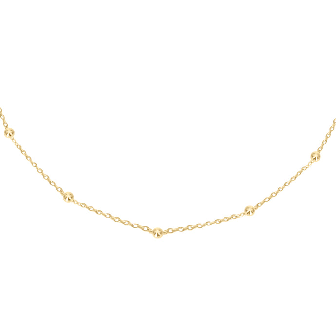 14k gold satellite, adjustable, layering chain
