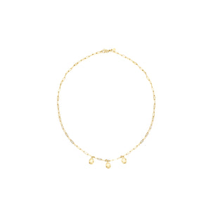 14k gold, Christian jewelry, trendy layering necklace with discs