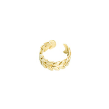 Load image into Gallery viewer, 14k gold, Christian jewelry, leaf and vines adjustable ring