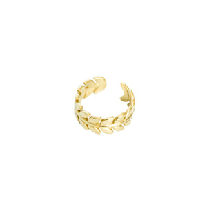 14k gold, Christian jewelry, leaf and vines adjustable ring