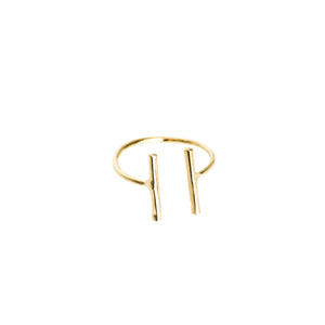 14k gold, faith inspired, thin adjustable stacking ring