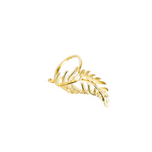 Load image into Gallery viewer, 14k gold, Christian jewelry, large, leaf adjustable ring