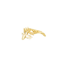 Load image into Gallery viewer, 14k gold, faith based, stylish leaf adjustable ring