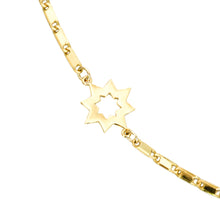 Load image into Gallery viewer, 14k gold, faith inspired, flat chain necklace with star