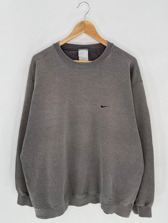 90's NIKE Mini Swoosh Size XXL Vintage Sweat-shirt / 6989