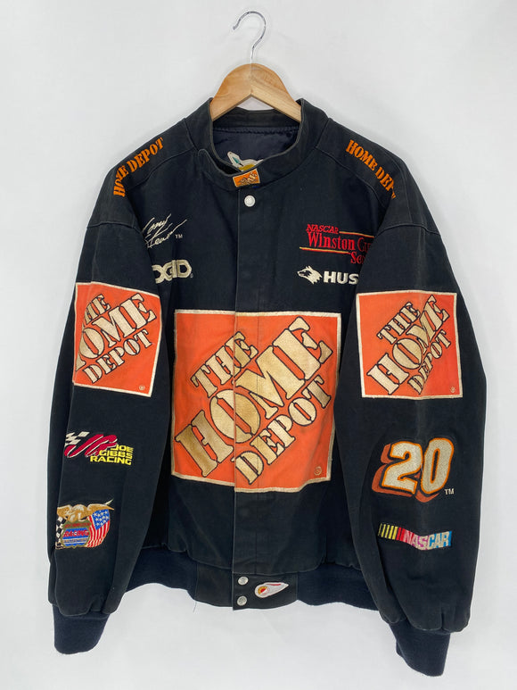 Vintage NASCAR Winston Cup The Home Depot Size XL Racing Jacket / 5597