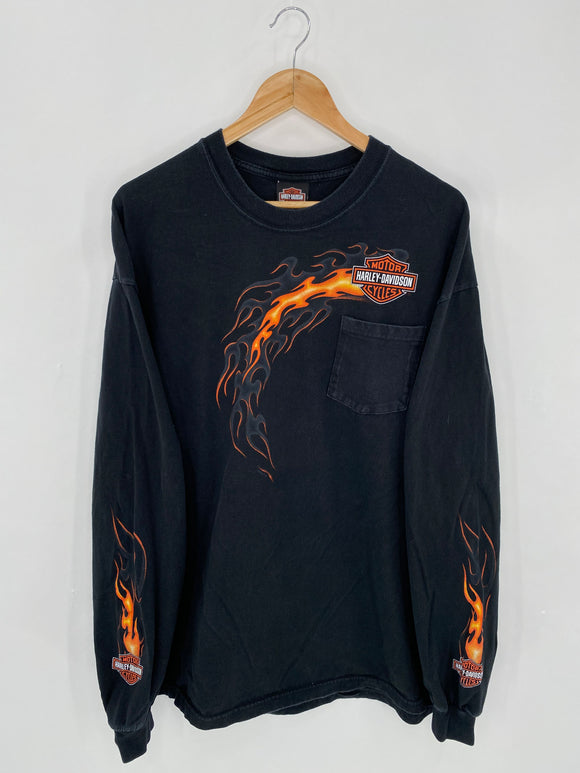 2006 HARLEY DAVIDSON Made in USA Size XXL Vintage Long Sleeve T-Shirts / 6204