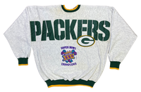 90's Green Bay Packers Big Print Vintage NFL Sweat-Shirts / 1019