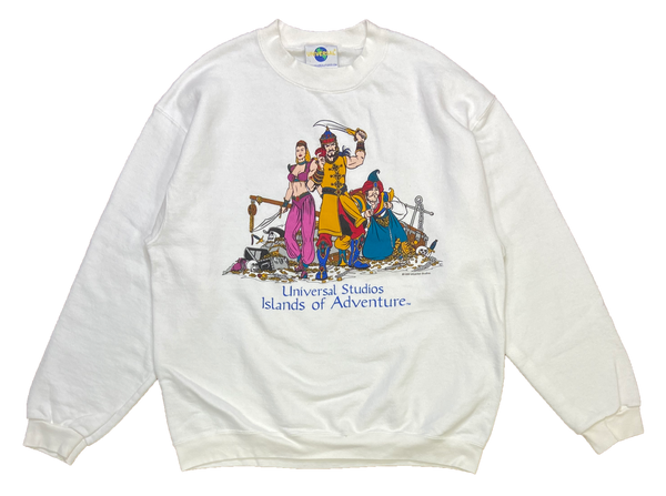 90's Universal Studio Islands of Adventure Vintage Sweat-Shirts / 1036