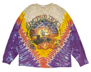 90's Grateful Dead Tie-Dye Vintage Long Sleeve T-Shirts / 1063