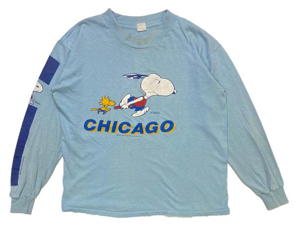 80's Snoopy Long Sleeve Vintage T-Shirt / 1277