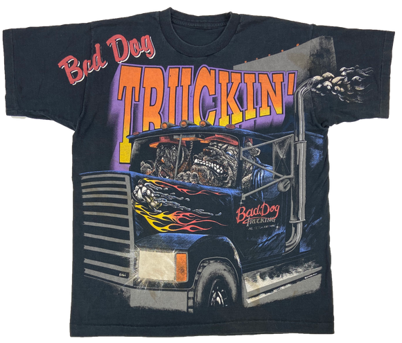 Truckin' All over print Vintage T-Shirt / 146