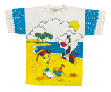90's Looney Tunes Vintage All Over Print T-Shirt / 1464