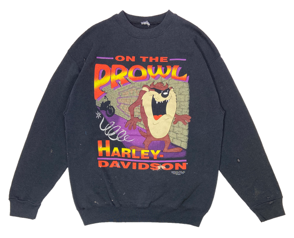 90's TAZ Looney Tunes x Harley Davidson Vintage Made in USA Sweat-Shirts / 1515