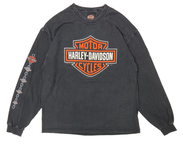 00's Harley Davidson Vintage Made in USA Long Sleeve T-Shirts / 1534