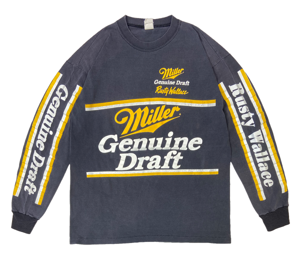 90's Miller Made in USA Vintage Long Sleeve T-Shirt / 1730