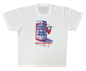80's Bud Light Made in USA Vintage T-Shirt / 1745