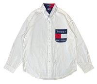 90's Vintage Tommy Hilfiger Long Sleeve Shirts / 1832